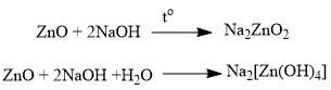 ZnO + 2NaOH +H2O